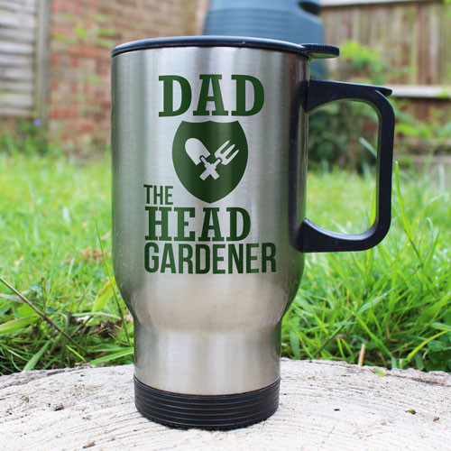 Personalised Stainless Steel Thermal Travel Mug for Gardeners