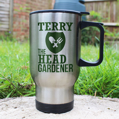 Presonalised Head Gardeners Thermal Mug