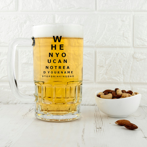 Personalised Opticians Chart Pint Glass