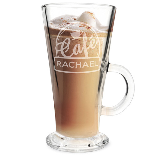 Personalised Latte Glass