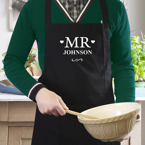 Black Mr Apron