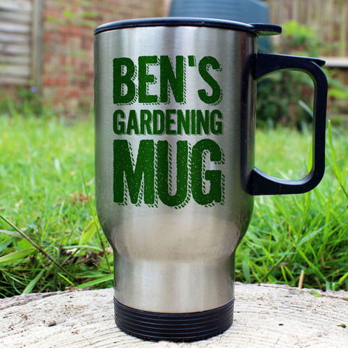 Personalised Stainless Steel Outdoor Gardening Mug