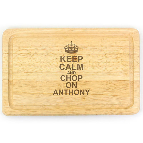 Personalised Keep Calm Chopping Board