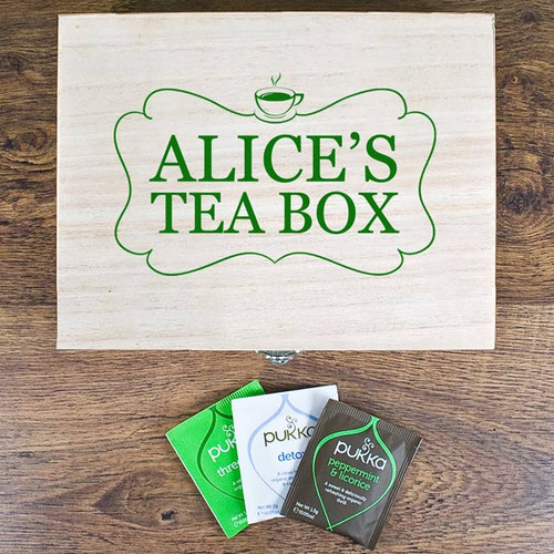 Tea Box Storage Box with Pukka Teas