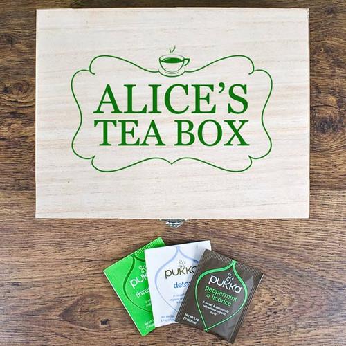 Tea Box Storage Box with Pukka Teas