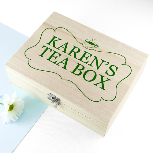 Personalised Pukka Envelope Tea Storage Box
