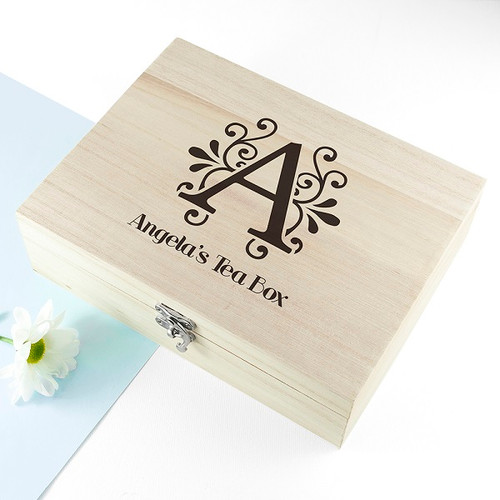 Personalised Wooden Tea Caddy
