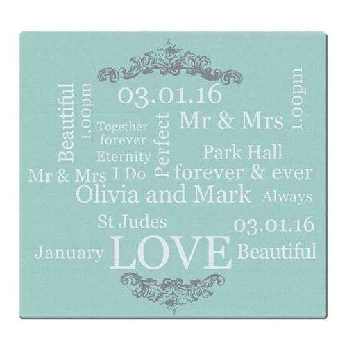 Personalised Wedding Design Glass Chopping Board