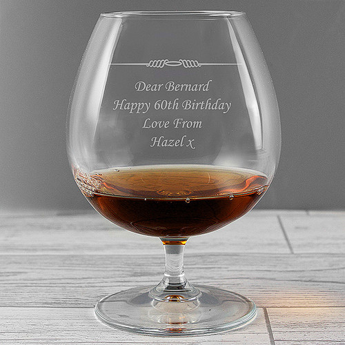 Engraved Brandy Glass 60th Birthday Gift
