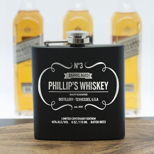 Personalised Whiskey Vintage Hip Flask