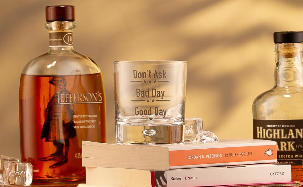 good-day-bad-whisky whisky glass