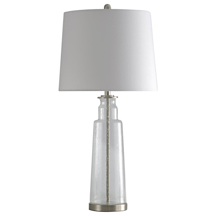 Clear Seeded Glass Table Lamp