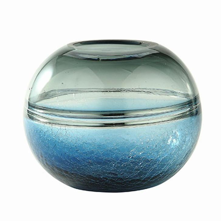 Medium Round Gray and Blue Bowl