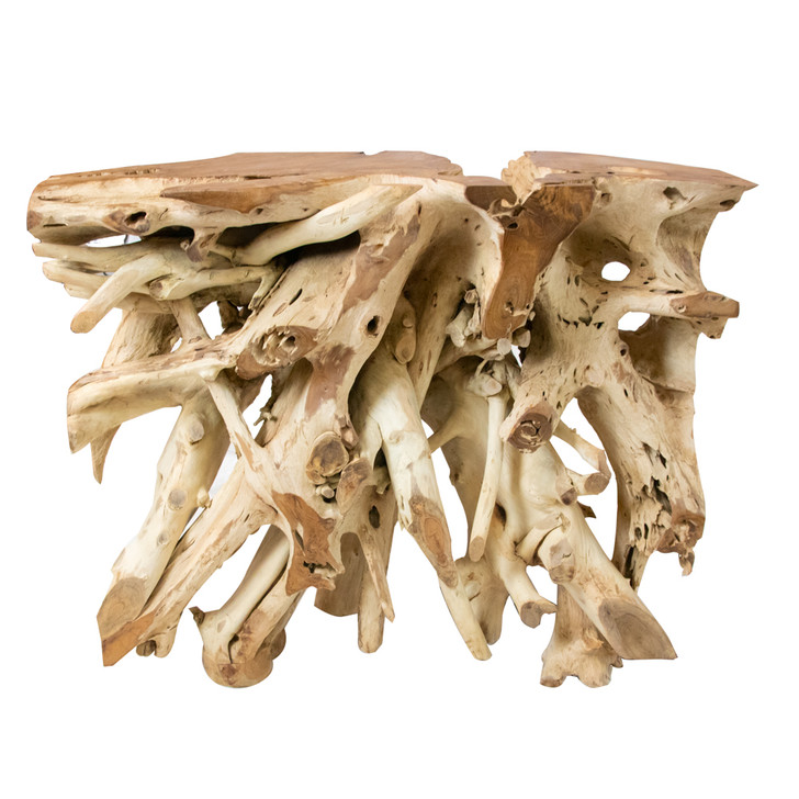 Teak wood root table