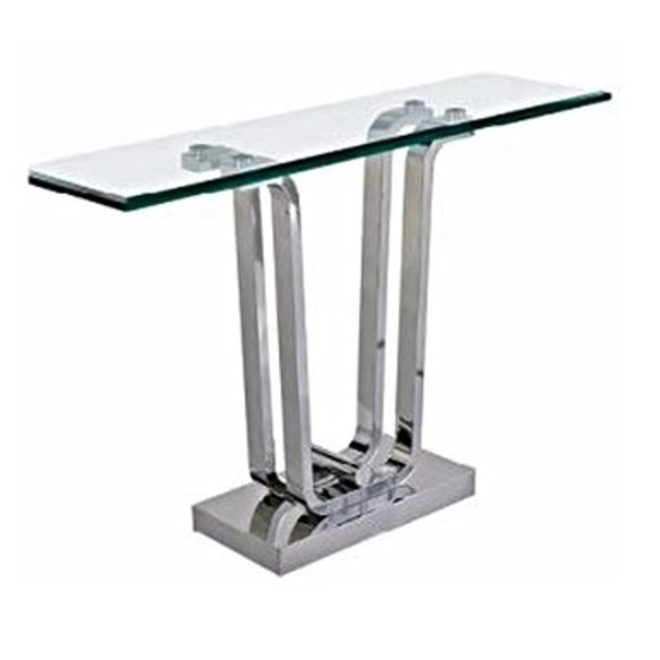 stainless steel leg and base with glass table top