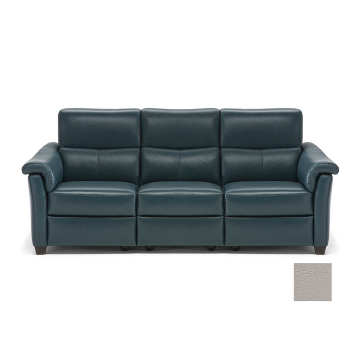 natuzzi sofa covered in leather with reclining functions