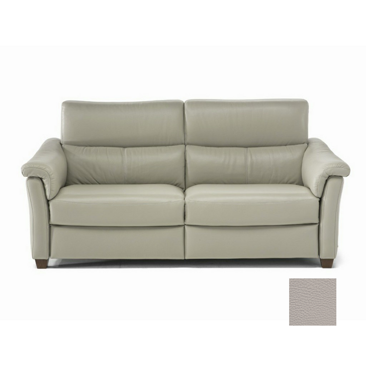 grey leather loveseat with reclining feature