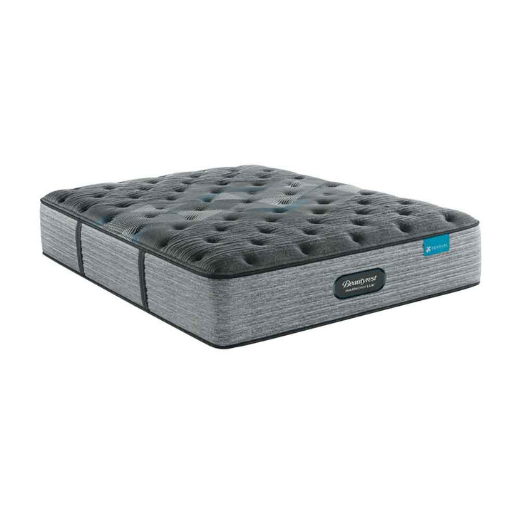 three-quarters view of the Beautyrest Harmony Lux Diamond Medium mattress in dark gray. Pictured in full size but also available in twin, queen, eastern king, and California king