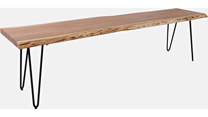 "Tioga 70"" Acacia Wood Bench"