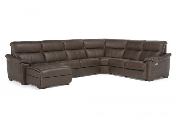 Natuzzi Editions Amorevole 5 pc Sectional with Recliner