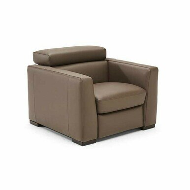 light brown leather chair with headrest