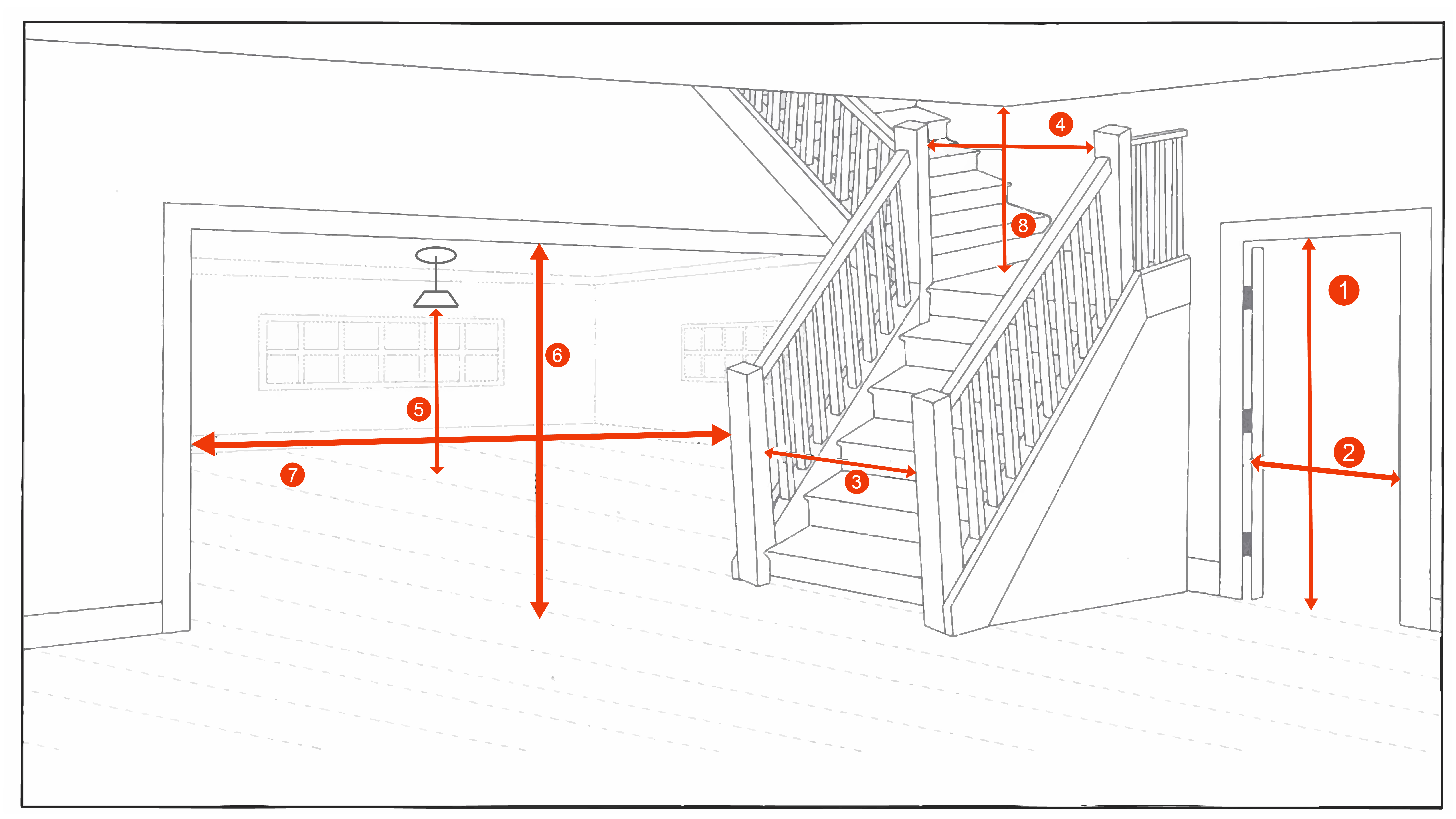 measuring for delivery inforgraphics including how to measure doors, staircase, ceilings