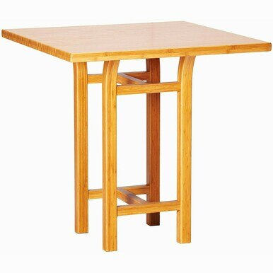 simple contemporary wood counter table