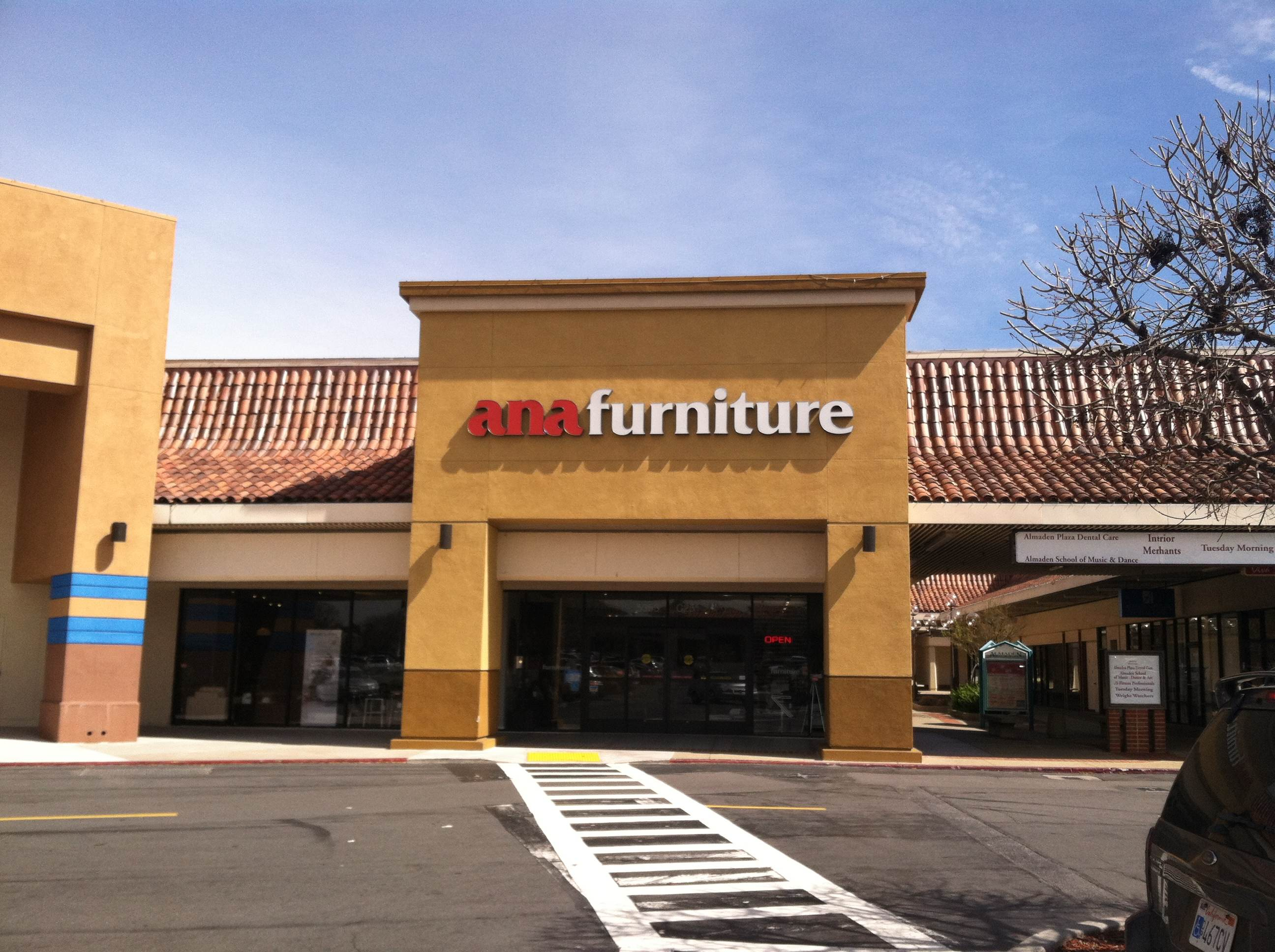 Ana furniture store location in san jose. furniture showroom in almaden, san jose California