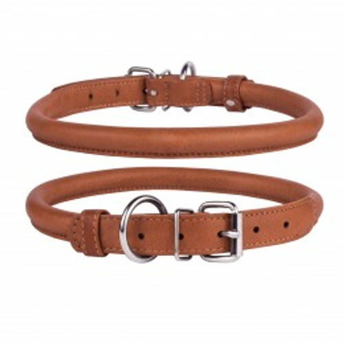 Soft Rolled Leather Buckle Collar