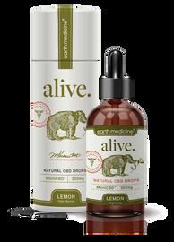 Earth Medicine MicroCBD Natural Droppers - Alive - Lemon Flavor