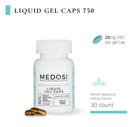 Medosi Whole Spectrum Hemp Extract Gel Capsules - 25 mg