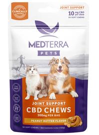 Medterra CBD Pet Joint Support Chews - Peanut Butter