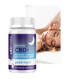 Medterra CBD+ Good Night Capsules with Melatonin - 25 mg