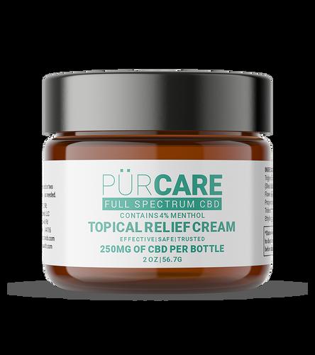 PürCare Full Spectrum CBD Topical Relief Cream 250mg - 2 oz