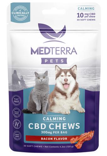 Medterra CBD Pet Calming Chews - 300 mg - Bacon Flavor