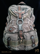 Post-apocalyptic Backpack Canvas Olive | Atomic Slug