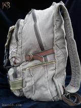 Post-apocalyptic Backpack Canvas Olive | Atomic Slug