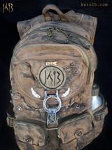 Post-apocalyptic Backpack Canvas Olive   Atomic Slug Deluxe