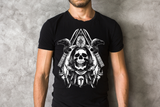 T-Shirt Black Men's Skull Devolved