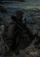 Cyberpunk Hood Black Hooded Jacket Coat Dystopian Assymetrical | The Wanderer