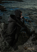 Cyberpunk Hood Black Hooded Jacket Coat Dystopian Assymetrical   The Wanderer