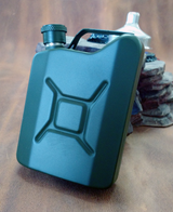 Jerry Gas Can Flask 5 oz Olive Drab OD Army