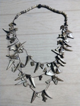 Tribal necklace coconut shard