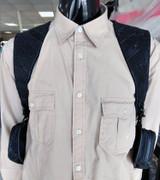 Shoulder holster leather harness bag wallet cyberpunk black