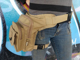 Leg Purse Tactical Bag Waist Hip Holster Pouch Belt Brown Khaki Olive