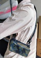 Structure shoulder holster leather harness bag wallet camouflage