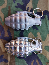 Pineapple Grenade Buckle Silver