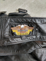 Harley-Davidson Leather Motorcycle Jacket Womens XL + Chaps Used