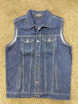 Denim vest dark blue battle jacket