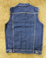 Denim vest dark blue battle jacket